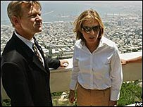Livni con el relator de DD.UU. de la ONU, Jan Egeland