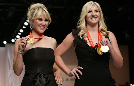 Sarah Ayton and Rebecca Adlington