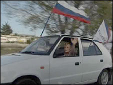 We Choose Russia convoy in Sevastopol