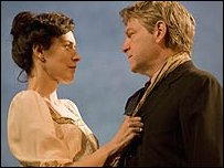 Gina McKee and Kenneth Branagh in Ivanov