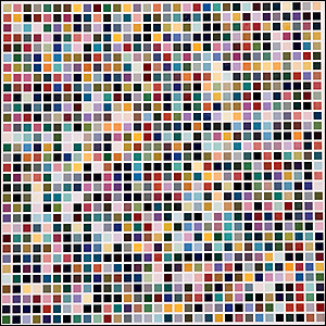 1024 Farben (1024 Colours) 1973 (© 2008 Gerhard Richter)