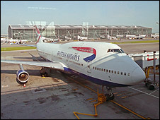 BA plane at Heathrow Terminal 5