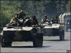 Russian armour in South Ossetia