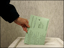 Voter casting his vote (Getty Images)