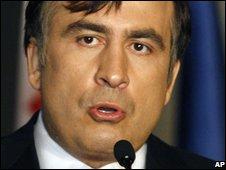 Georgian President Mikhail Saakashvili