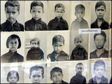 Photographs of some of the prisoners executed at Tuol Sleng
