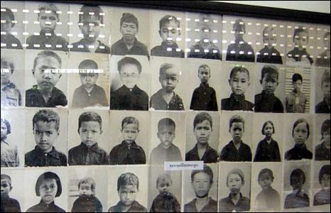 Photographs of prisoners at Tuol Sleng