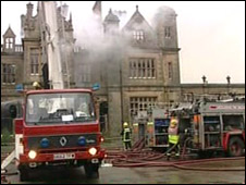 Fire at Stoke Rochford