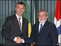 Jens Stoltenberg y Luis Inácio Lula da Silva