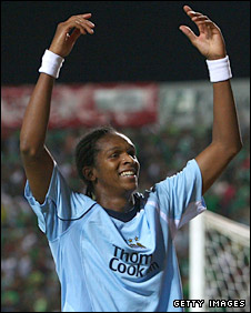 Jo celebrates after scoring City's winner in Cyprus
