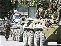 Tanques rusos en Georgia