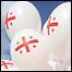 Воздушные шарики с флагами Грузии
