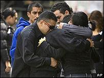 Parientes de las víctimas del ataque en Morelia