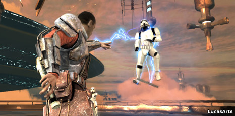 Screengrab from The Force Unleashed