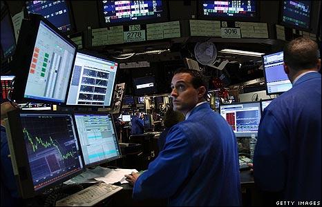 Wall Street screens Mon 15 Sep