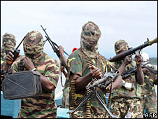 Fighters from the Movement for the Emancipation of the Niger Delta (Mend), 17 September 2008