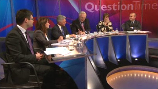 Simon Wolfson, Lynne Featherstone, Alan Duncan, David Dimbleby, Harriet Harman and Ian Hislop