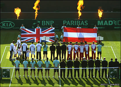 British and Austrian Davis Cup tennis players