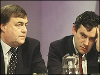 John Prescott and Gordon Brown