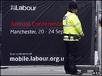 Policeman at the Labour Conference