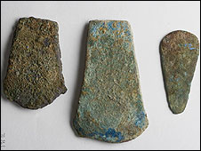 Copper axe heads