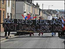 Fathers 4 Justice protest