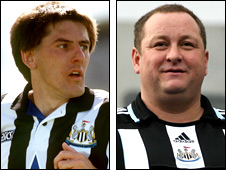 Peter Beardsley and Mike Ashley