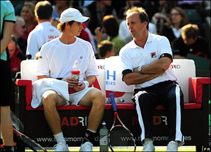 Andy Murray and John Lloyd
