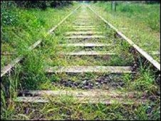Overgrown railway. Picture courtesy of FreeFoto.com