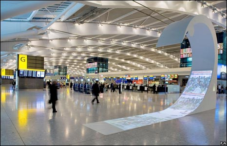 art displayed at Heathrow airport's Terminal 5