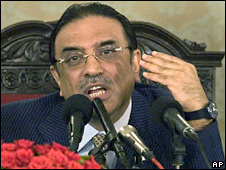 Asif Ali Zardari (file photo)