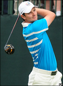 Justin Rose tees off