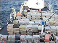 Cocaína incautada en alta mar  (Foto: DEA)