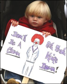 A child in the march