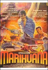 """Afiche de """"Operación marihuana"""", narcofilme de 1985"""