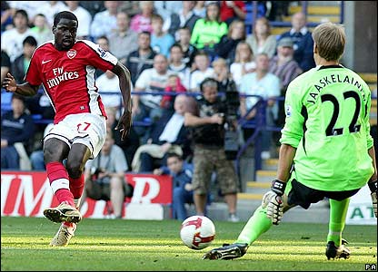 Eboue levels for Arsenal