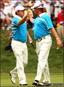 Graeme McDowell and Miguel Angel Jimenez