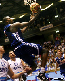 Luol Deng in action for GB against Israel