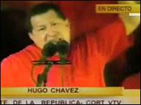 Hugo Chávez, en el anuncio del Partido Republicano de EE.UU.