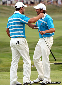 Paul Casey (left) and Garcia
