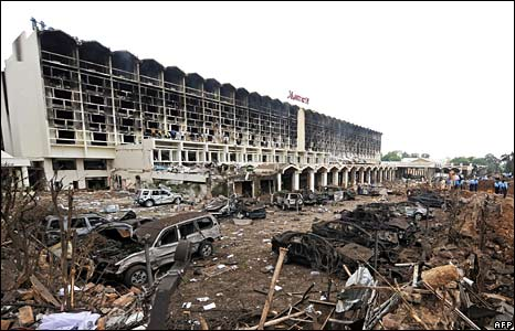 Marriott Hotel bomb site, Islamabad, Pakistan