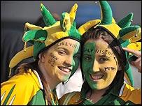 Kerry fans Clare Dwyer and Brid Mulrennan