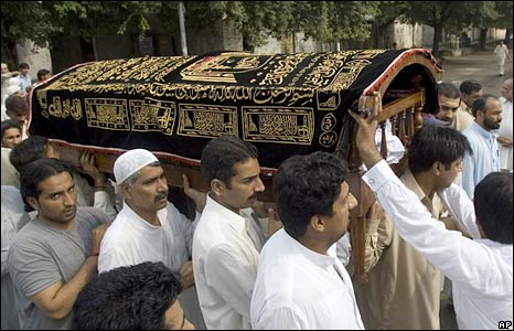 Funerals in Islamabad. Photo: 21 September 2008