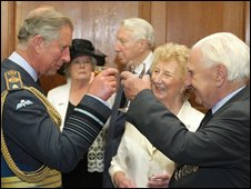 Prince Charles and with Battle of Britain veterans
