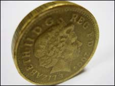 Counterfeit pound coin