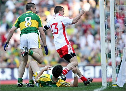 McGuigan's goal immediately after the restart gave Tyrone a two-point lead