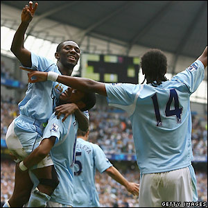 City celebrate goal number four