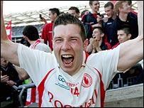 Sean Cavanagh of Tyrone celebrates his third All-Ireland success