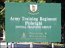 Pirbright entrance sign