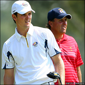 Justin Rose and Phil Mickelson